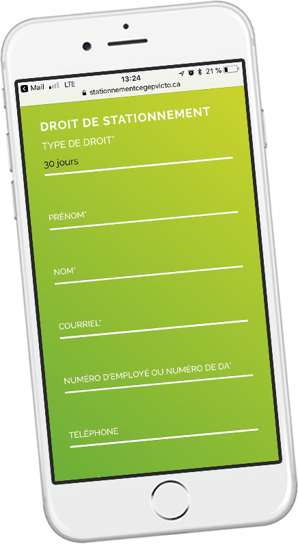 Application pour stationnement sur iPhone
